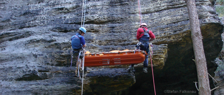 Rettungsübung im Bielatal