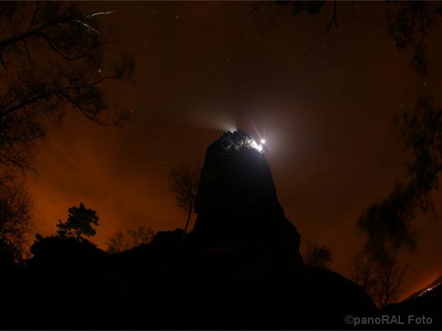 Licht auf dem Gipfel der Tante