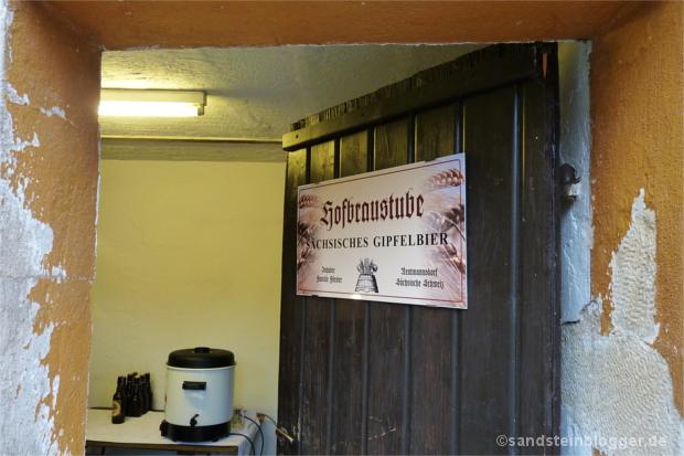 Eingang zur Hofbraustube in Nenntmannsdorf