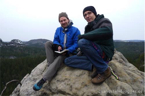 Ralf und Sven auf dem Gipfel