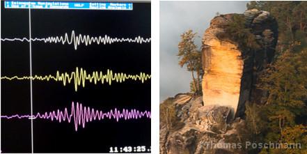 Seismogramm vom Wartturm