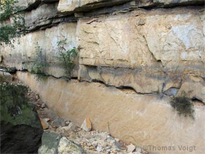 Sturmsedimente in den Postelwitzer Steinbrüchen