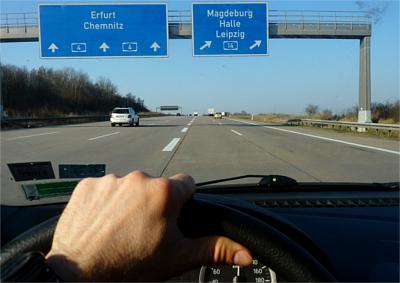 Autobahn nach Leipzig