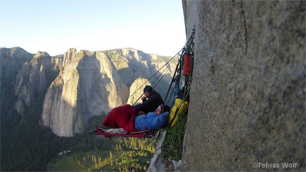 Kletterer im Portaledge