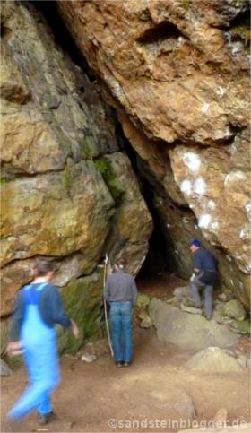 Haupteingang der Schleifsteinhöhle