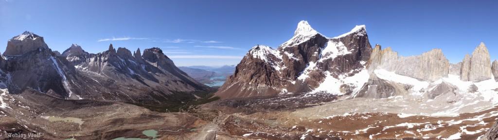 Die Berggipfel der Cordillera del Paine
