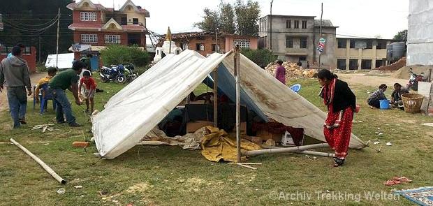 Erdbebenopfer in Kathmandu