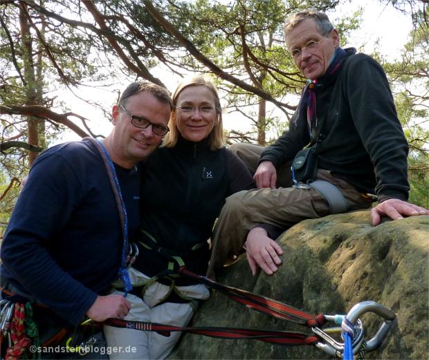 Drei Freunde auf dem Pantinenturm