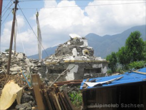 Zerstörter Stupa