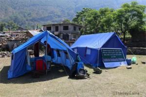 Die Sanitäts-Zelte des Alpinclubs