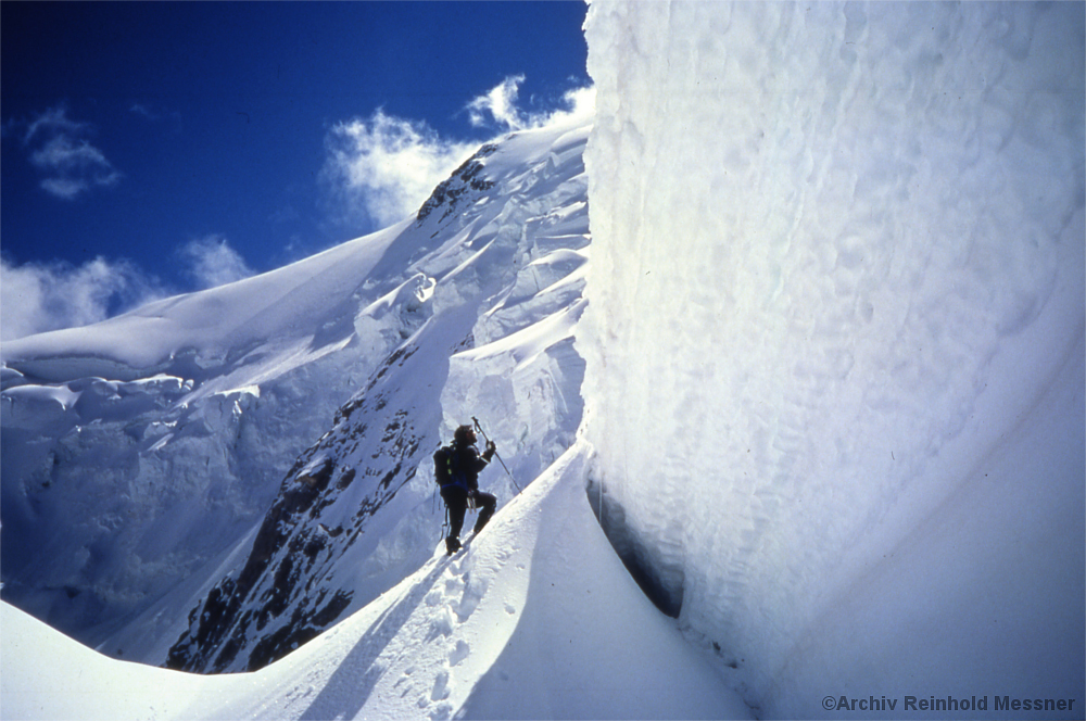 Reinhold Messner im Jahr 2000 am Nanga Parbat