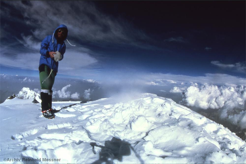 Reinhold Messner auf dem Gipfel des Nanga Parbat, 1978