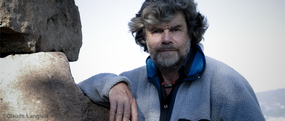 Reinhold Messner im Gebirge