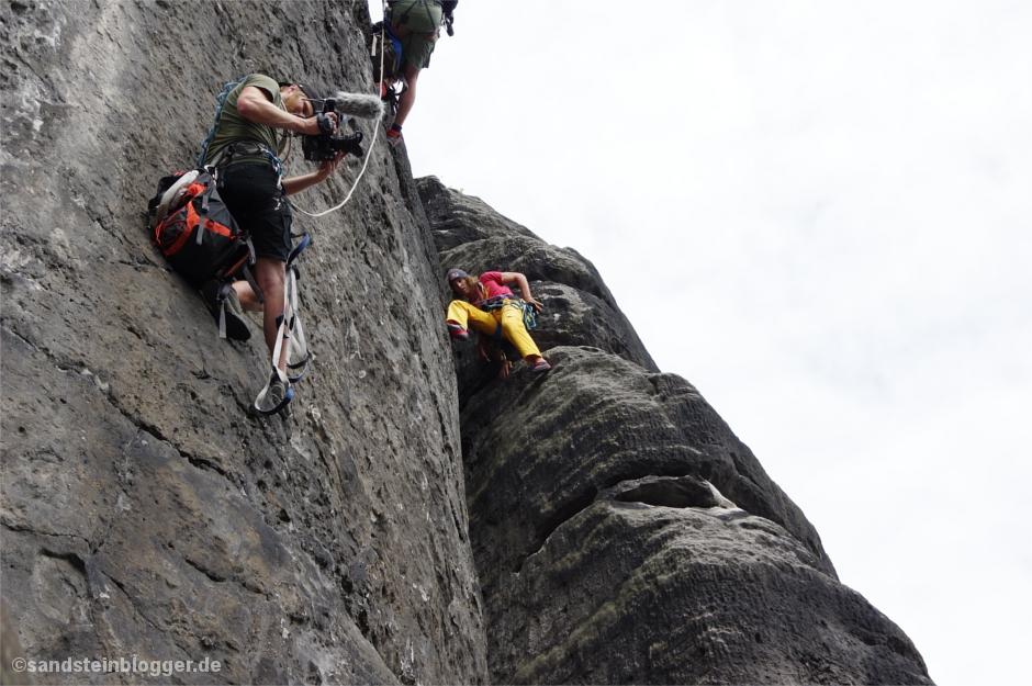 Jeder Meter des Aufstiegs wird gefilmt