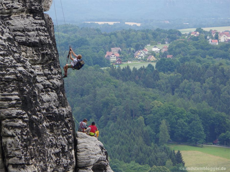 Kameramann beim Aufstieg