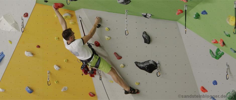 Eine von 120 neuen Routen in der Heidenauer Yoyo Kletterhalle