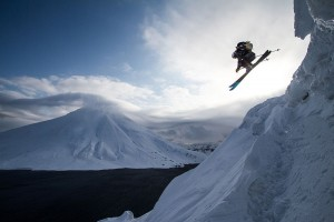 Extreme Skiabfahrt
