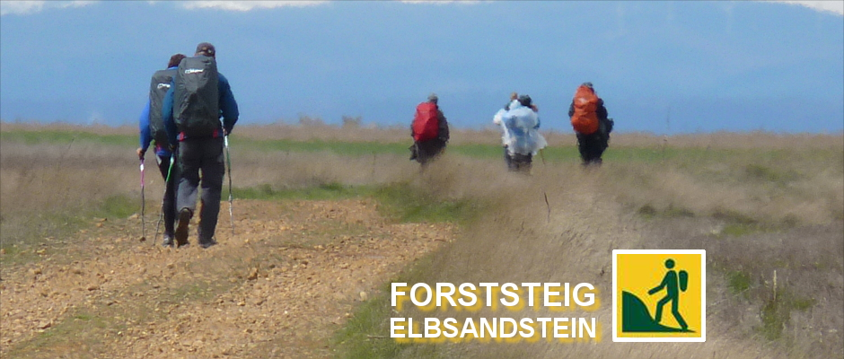 Langstreckenwanderer unterwegs