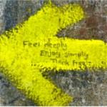 Allgegenwärtig in Spanien: der gelbe Pfeil des Jakobswegs. (Foto: H. Landgraf)