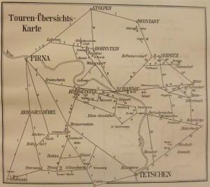 Radtourenkarte von 1902