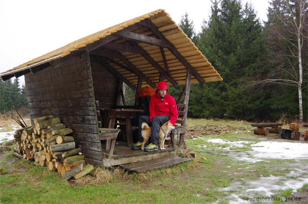 Thorsten und Hilde im Regen