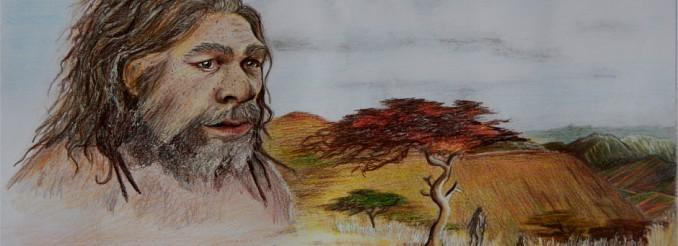 Urmenschen in der afrikanischen Savanne