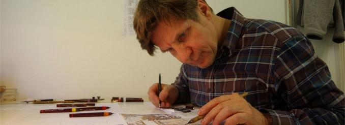 Kartograf bei der Arbeit - Rolf Böhm