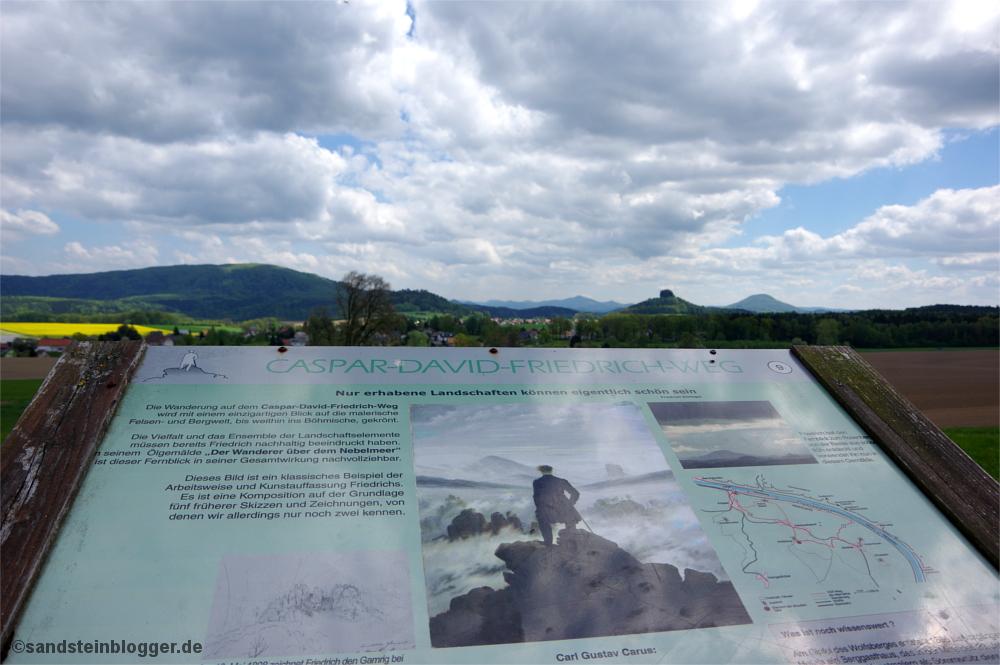 Wegtafel am Wolfsberg