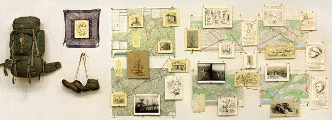 Die Kunstinstallation zum Appalachian Travelouge