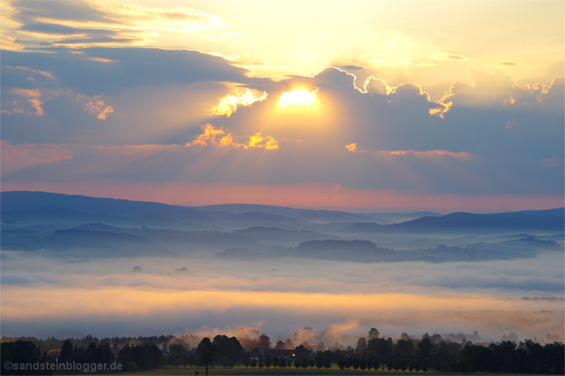 Blick vom Pfaffenstein Morgensonne