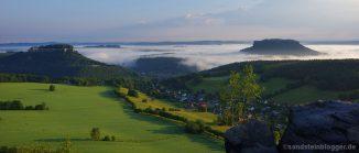 Morgennebel über der Sächsischen Schweiz