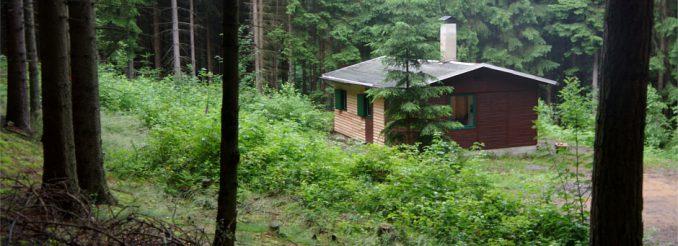 Die Rotsteinhütte im Cunnersdorfer Wald