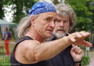 Heinz Zak spricht mit Reinhold Messner