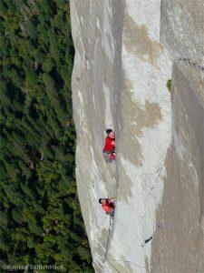 Kletterer an der Nose