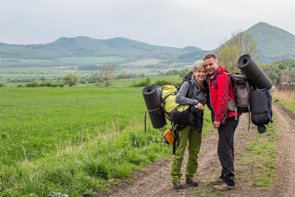 Wanderer im Böhmischen Mittelgebirge