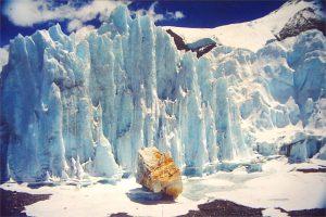 Eisskulpturen auf dem Rongbukgletscher