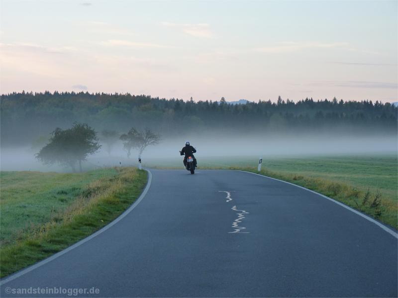 Biker auf der Ziegenrückenstraße
