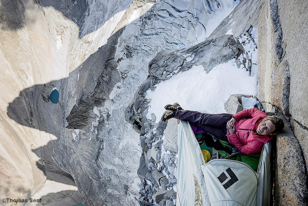 Schlafplatz 600 Meter über dem Boden