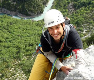 Kletterer von oben fotografiert