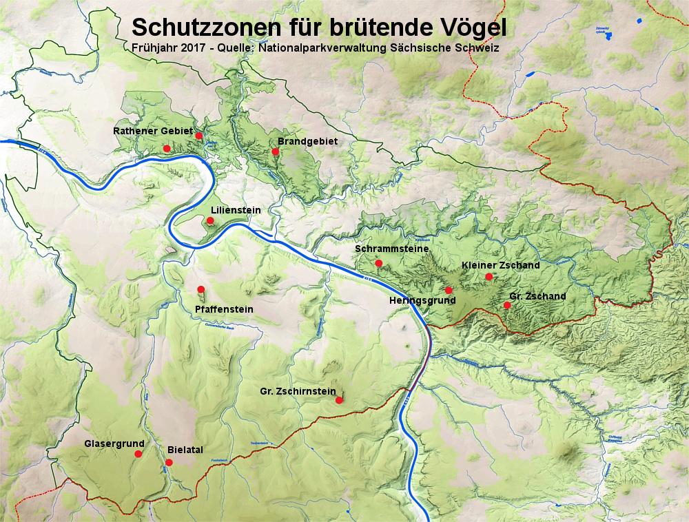 Karte mit Gebietssperrungen