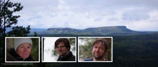 Landschaft mit Tafelbergen, Portraitbilder