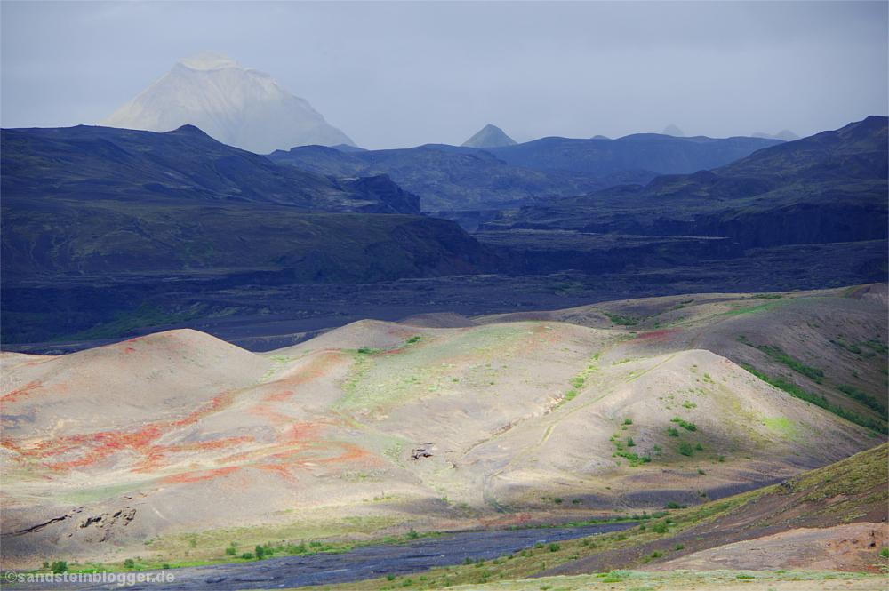 Berglandschaft mit Lavafeldern
