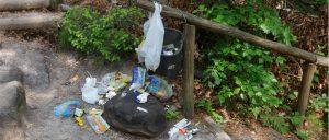 Müll am Wanderweg
