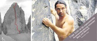 Große Zinne, Dolomiten, mit Kletterroute Direttissima, Alexander Huber