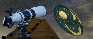 Sternenhimmel, Teleskop, Himmelsscheibe von Nebra