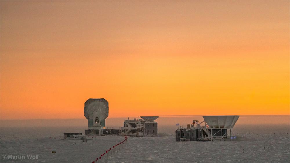 Forschungs- und Technikgebäude der Südpolstation.