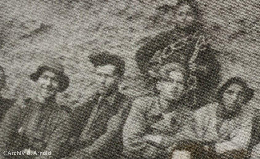 Historisches Foto von Kletterern