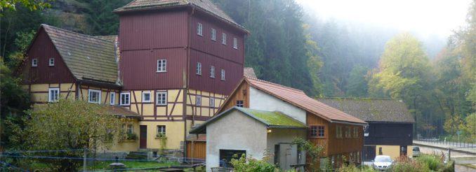Altes Mühlengebäude an der Kirnitzsch